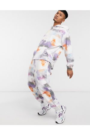 ASOS Co-ord oversized joggers with all over print-Multi