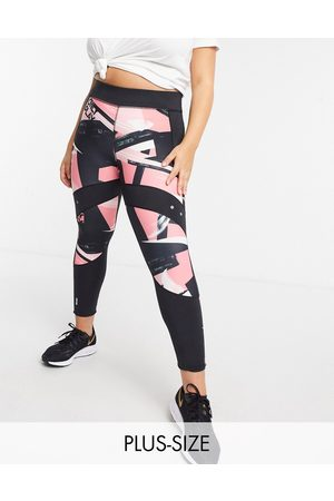Only Play Curve Minalistraining tights in all over print-Multi