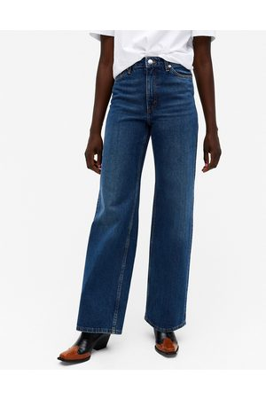 Monki Yoko organic cotton wide leg jeans in classic blue