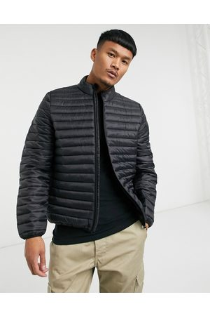 ASOS Quilted puffer liner jacket with stand collar in black