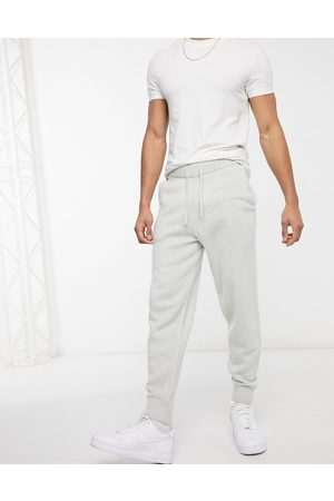 ASOS Knitted textured joggers in light grey