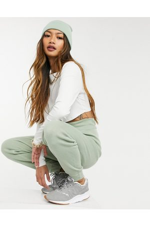 Ax Paris Premium knitted joggers in sage green
