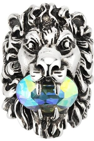 Gucci Crystal -embellished lion head ring