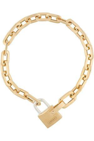 AMBUSH SMALL PADLOCK CHAIN BRACELET GOLD GOLD