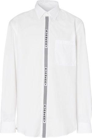 Burberry Logo tape cotton shirt