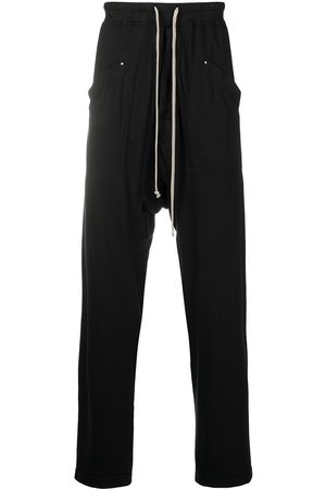 Rick Owens Drop-crotch drawstring track pants