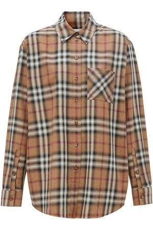 Burberry Ženy Košile - Ombré check cotton twill shirt