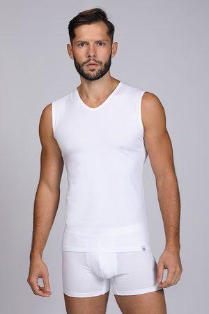 Enrico coveri Muži Trička - Bílé tričko bez rukávů