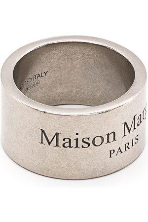 Maison Margiela Logo-engraved band ring