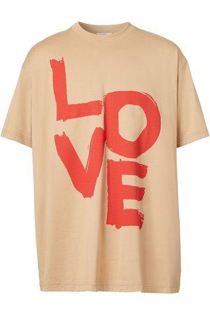 Burberry Love print organic cotton T-shirt