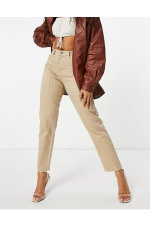 NaaNaa High waisted mom jeans in stone
