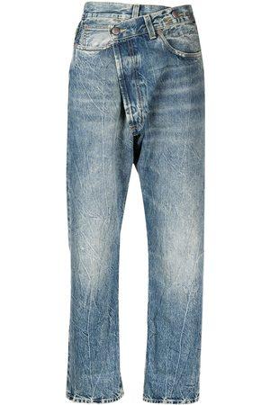 R13 Ženy S vysokým pasem - Crossover high-rise jeans