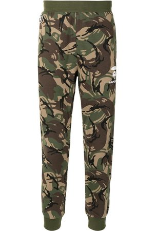 AAPE BY *A BATHING APE® Camouflage-print tapered track pants