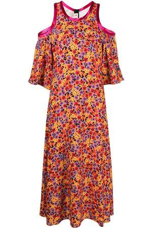 Marni Floral-print cold-shoulder dress
