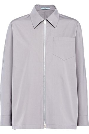 Prada Boxy-fit zip-front shirt