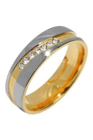 Silvego Snubní ocelový prsten pro ženy MARIAGE RRC2050-Z 50 mm