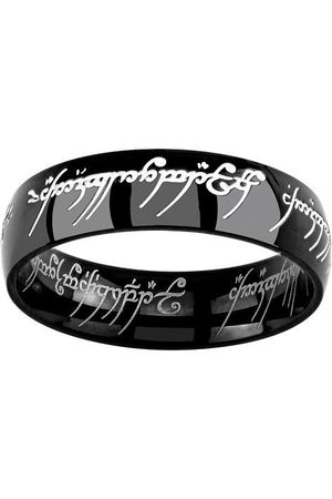 Silvego Černý ocelový prsten moci z filmu Pán prstenů RRC5623 61 mm