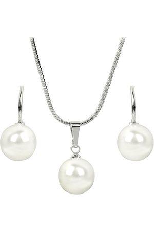 Troli Sada náhrdelníku a náušnic Pearl White