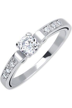 Brilio Dámský prsten z bílého zlata s krystaly 229 001 00498 07 51 mm