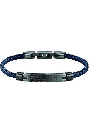 Morellato Pánský modrý kožený náramek Moody SQH21