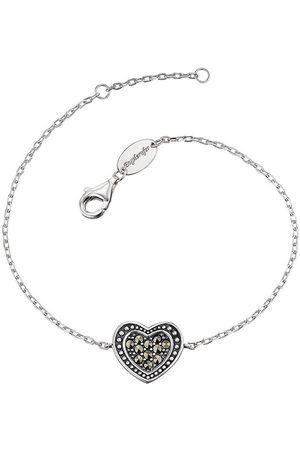 Engelsrufer Stříbrný náramek Srdce s markazity ERB-HEART-MA