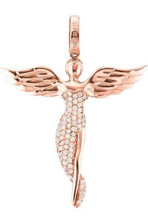 Engelsrufer Růžově zlacený stříbrný přívěsek Anděl se zirkony ERP-ANGEL-R 5,2 cm ER0224