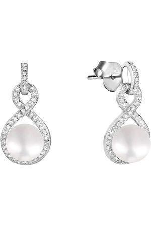 JwL Luxury Pearls Ženy Náušnice - Třpytivé náušnice s perlou a zirkony JL0593