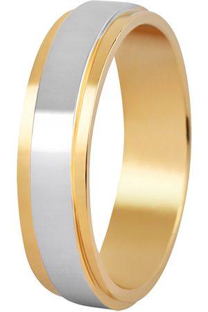 Beneto Dámský bicolor snubní prsten z oceli SPD05 49 mm