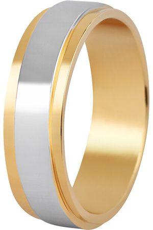 Beneto Pánský bicolor snubní prsten z oceli SPP05 68 mm