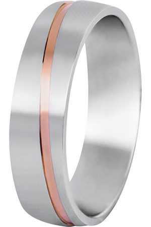 Beneto Pánský bicolor snubní prsten z oceli SPP07 62 mm