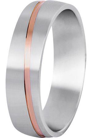 Beneto Pánský bicolor snubní prsten z oceli SPP07 64 mm