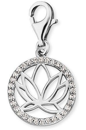 Engelsrufer Náramky - Stříbrný přívěsek na náramky s lotosovým květem a zirkony ERC-LOTUS-ZI