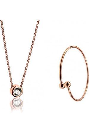 Emily Westwood Bronzová sada náhrdelníku a pevného náramku WS037R