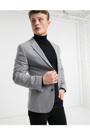 ASOS Muži Saka - Skinny suit jacket in grey