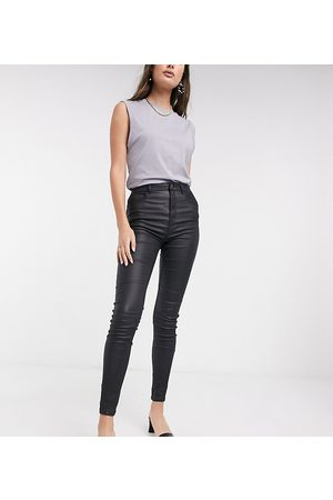 New Look Faux leather coated shaper skinny jean in black