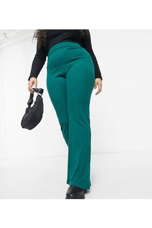 Outrageous Fortune Exclusive wide leg flare in emerald green
