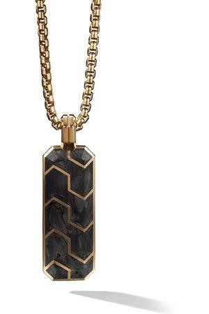 David Yurman 18kt yellow gold Forged Carbon ingot amulet