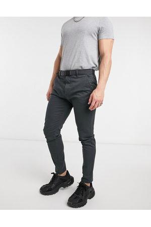 Pull&Bear Muži Chino - Skinny smart chinos in grey