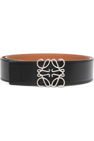 LOEWE Muži Pásky - Anagram plaque leather belt