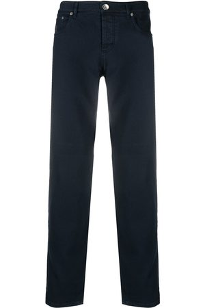 Brunello Cucinelli Stretch-cotton straight-leg jeans