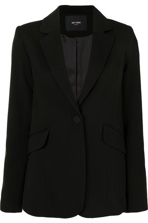 Twin-Set Notched lapel flap pocket blazer