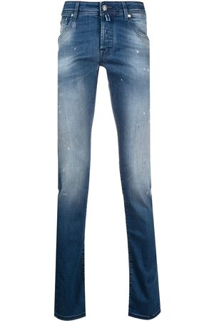 Jacob Cohen Splatter-effect straight-leg jeans