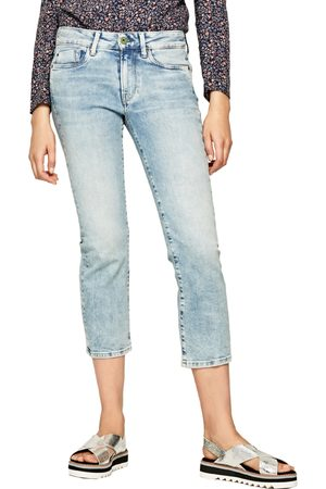 Pepe Jeans Ženy Kalhoty - Dámské modré džíny Piccadilly