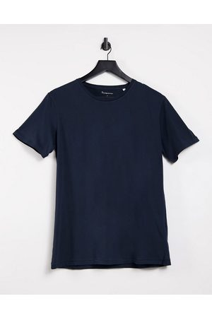 Knowledge Cotton Apparal Organic cotton logo t-shirt in navy