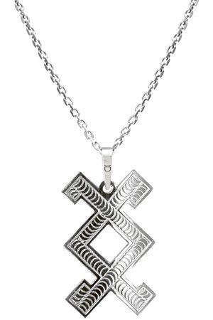 Praqia Pánský stříbrný náhrdelník Inguz KO5003_MO060_50_RH (řetízek, přívěsek)