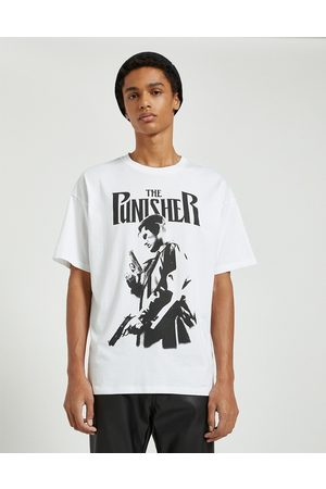 Pull&Bear Punisher t-shirt in white