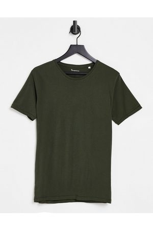 Knowledge Cotton Apparal Organic cotton t-shirt in khaki-Green