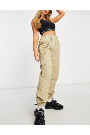 Missguided Co-ord cargo pant in beige