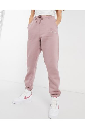 Missguided Co-ord oversized joggers in mauve-Pink