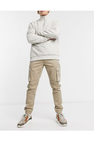 Only & Sons Muži Kapsáče - Cuffed cargo trousers in slim fit stone